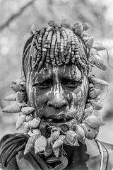 Mursi tribe woman in black and white (anthony pappone photographer) Tags: africa portrait people digital canon pose photo blackwhite faces image expression retrato picture portraiture afrika fotografia ethiopia ritratto mursi afrique phototravel    mursitribe   africantribe   magonationalpark    eos5dmarkii