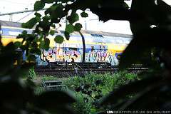 Runners (joeppo) Tags: netherlands train panel down eindhoven banana gaffiti brabant the aik ldn siar