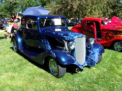 1933 Chervrolet hot rod (dave_7) Tags: blue hot car flames rod 1933 chervrolet