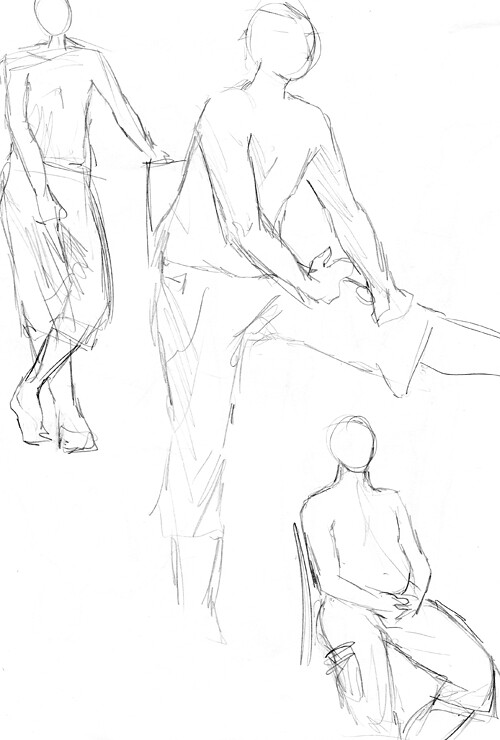 Minelo's sketchbook - life drawing, photo studies, illustrations...