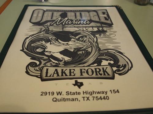 Oak Ridge Marina Restaurant – Quitman, Texas