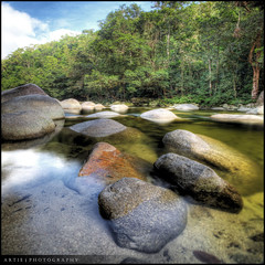 Mossman Gorge, Far North Queensland, Australia :: HDR (:: Artie | Photography ::) Tags: nature photoshop canon landscape rainforest rocks tripod australia wideangle mossman tropical gorge cairns mossmangorge ef 1740mm hdr artie cs3 3xp farnorthqueensland f4l photomatix tonemapping tonemap 5dmarkii 5dm2