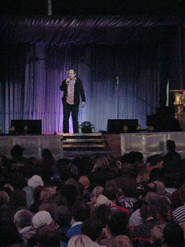 Robin Ince in the Comedy Tent