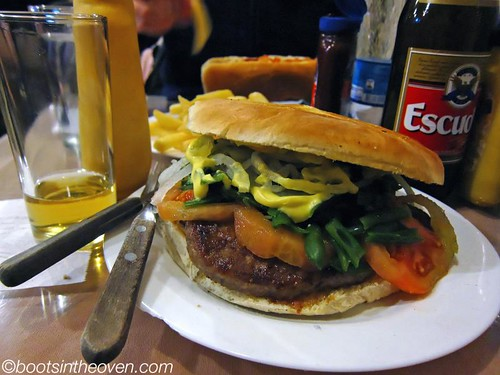 A WTF burger in Calama, Chile between buses