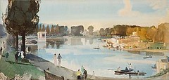 A Proposed Lake for Preston Park (Royal Pavilion & Brighton Museums) Tags: park brighton prestonpark watercolourpainting charlesknight loveparksweek