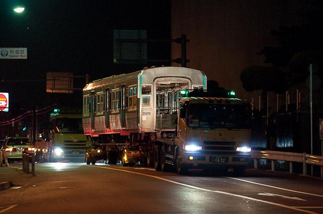 京王電鉄井の頭線3000系3029F デハ3079 デハ3129 陸送