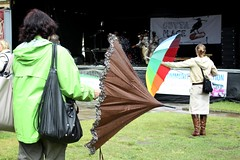 Umbrellas (M U R K) Tags: colour grass digital canon dance mac women exposure place handbags halifax umbrellas outta 50d proformance