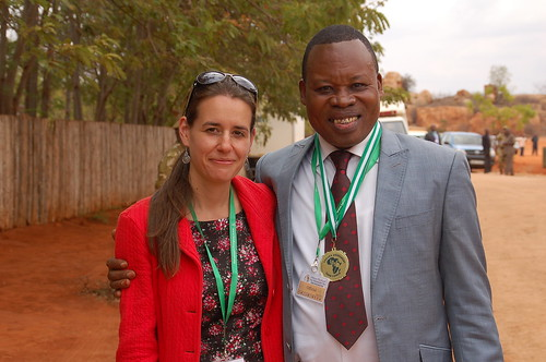 Shelley with Paco Bockandza, Director of Lusaka Agreement Task Force for Republic of Congo