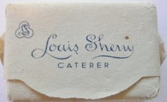 LOUIS SHERRY CATERER NEW YORK N.Y. (ussiwojima) Tags: newyork advertising sugar cube caterer louissherry