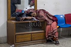 Waiting Room, Rail Station. (bandashing) Tags: england woman man glass station train manchester mirror sleep room rail railway reflect seats wait waitingroom sylhet bangladesh dozedoff dozed bandashing