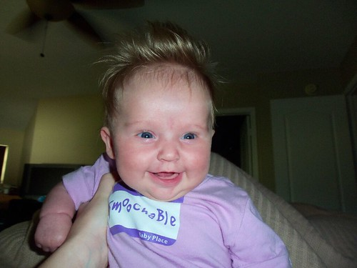 magic hairs on a happy baby.