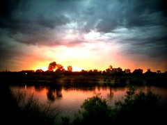 Awesome sunset at guelph lake during Hillside Festival (@klawrenc) Tags: guelph hillside iphone hillsidefestival guelphon guelphontario dynamiclight iphoneography tiltshiftgen