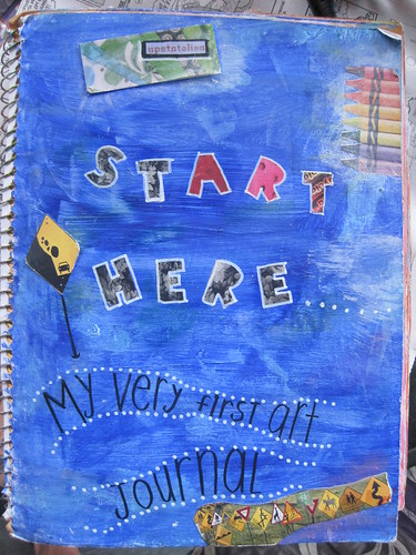 The cover of my very first art journal