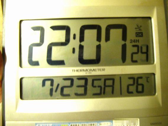 20時すぎると残念な電波時計