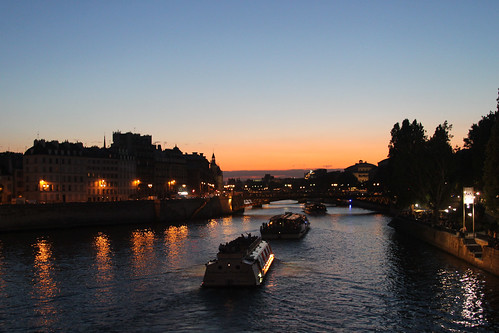 Just Past Sunset on the Seine