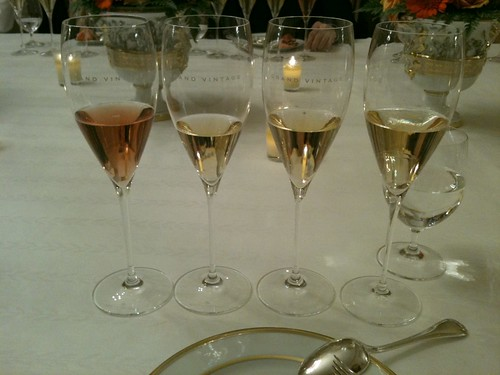 A flight of Moet Grand Vintage at Trianon