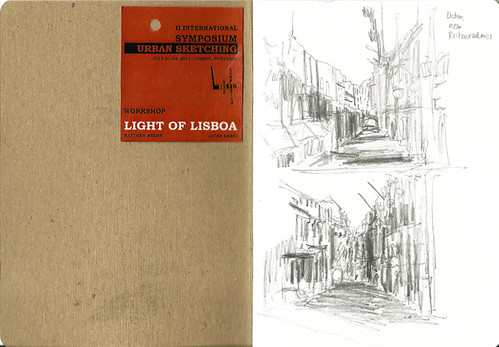 Thumbnail sketches near Restauradores, Lisbon, Portugal
