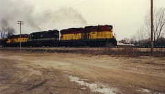 FRV 2401-2500-2402 (PaulVBox) Tags: road railroad wisconsin train river valley fox ballard freight 2500 appleton 2402 emd shortline 2401 frv sd24 sd35