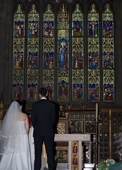 Making vows (Reverend Sam) Tags: wedding church window glass architecture eva sheffield gothic stainedglass rodrigo vows