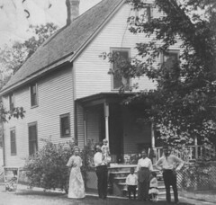 historical photo of net zero house in Ann Arbor (via Kelly & Matt's Net Zero House)