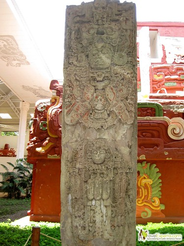 Mayan Ruins Origina Stelea Copan Honduras