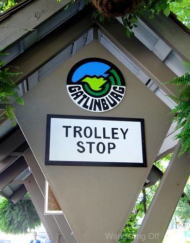 Gatlinburg trolley stop