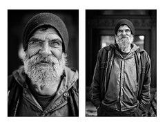 Mike - Stranger 37/100 (Tim Ronca) Tags: california street portrait blackandwhite mike losangeles diptych downtown strangers 100