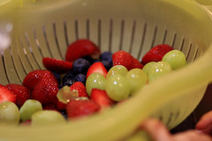 Fruit Salad Prep (kellimatthews) Tags: strawberries grapes apples fruitsalad raspberries blackberries blueberries