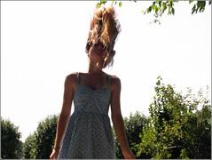 1958 (ValRunsPhotography) Tags: girl outdoors photography lowangle hairflip