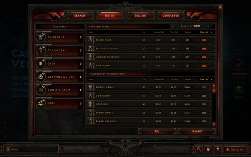 Diablo 3 Auction House Let's You Buy and Sell Items For Real Money