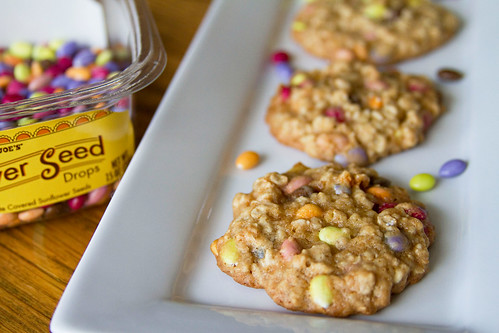 Honey-Oat Cookies with Chocolate Coated Sunflower Seeds - 5