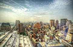 View from 7 World Trade Center HDR (Dave DiCello) Tags: newyorkcity newyork photoshop nikon manhattan tripod newyorkskyline empirestatebuilding nikkor hdr highdynamicrange nycskyline cs4 7worldtradecenter photomatix tonemapped colorefex cs5 d700 davedicello hdrexposed