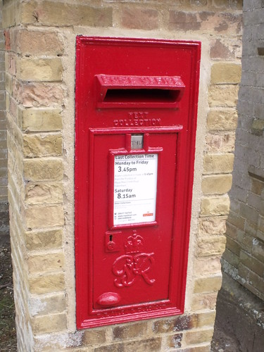 Holkham Hall - Estate Offices - Red post box - G VI R