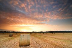 Hipp Hipp, Hoohay (Stu Meech) Tags: field sunrise nikon border hard hampshire tokina lee dorset hay bale grad foreground 1116 06nd d300s 09nd