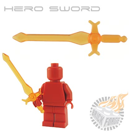 Hero Sword (of Fire) - Trans Orange