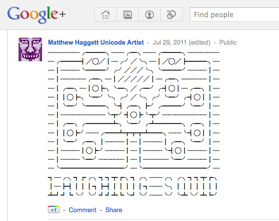 Twitter Art on Google Plus?