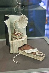 Mysterious paper sculptures (chrisdonia) Tags: sculpture paper book edinburgh 11 2011 nationallibraryofscotland