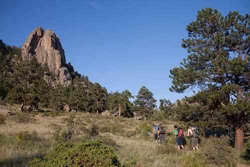 Hiking out of Lumpy Ridge