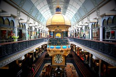 A clock at QVB in Sydney, Australia (Hopeisland) Tags: old building clock victoria queen qvb  2011