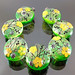 Set : Green Flower Blossom
