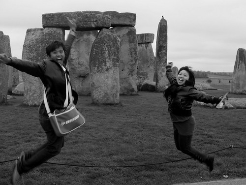 Stonehenge, UK - Jumping shot