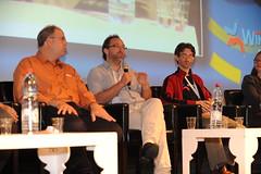 Wikimania 2011 Conference Day 1 (Wikimedia Israel) Tags: wales israel jimmy wikipedia haifa wiki wikimania wikimania2011