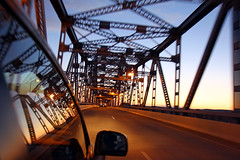 Lacrosse Bridge (Nick Mulcock) Tags: bridge sunset car wisconsin canon driving lacrosse d60 lacrose lacrossewisconsin 60d