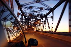 Lacrosse Bridge (Nick Mulcock) Tags: bridge sunset car wisconsin canon driving lacrosse d60 lacrose lacrossewisconsin 60d