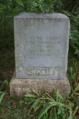 Tombstone of Elvis and Abigail Brassfield-Stout