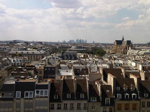 paryz widziany z centrum pompidou