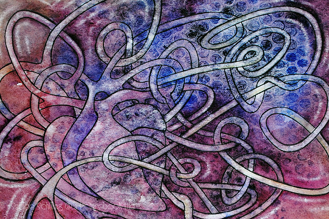 Heart and tangles detail