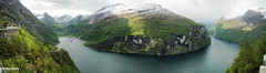 Geiranger Fjord - Geiranger - Norway (Andy Bullen) Tags: trip travel mountain snow fall water norway river waterfall andrew fjord allrightsreserved geiranger geirangerfjord bullen andrewbullen