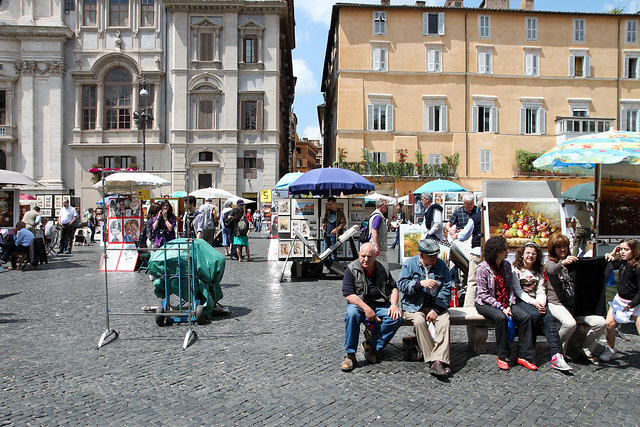 Rome. Life in Piazza Navona