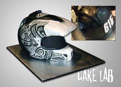helmet_cake (zacocakes) Tags: white black cake 3d painted helmet tribal dirtbike motocross aria sculpted warfare